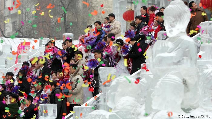 Harbin International Eis und Schnee Skulptur Festival (Getty Images/G. Niu)