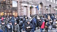 Aktion von Kriegsveteranen in Kiew, Ukraine