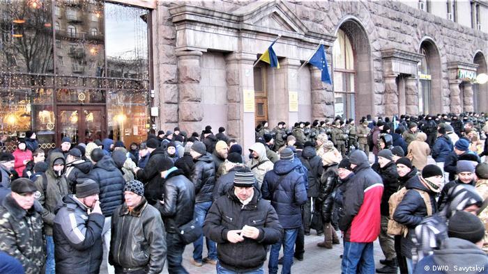 Протестувальники-ветерани АТО під Кабміном у Києві