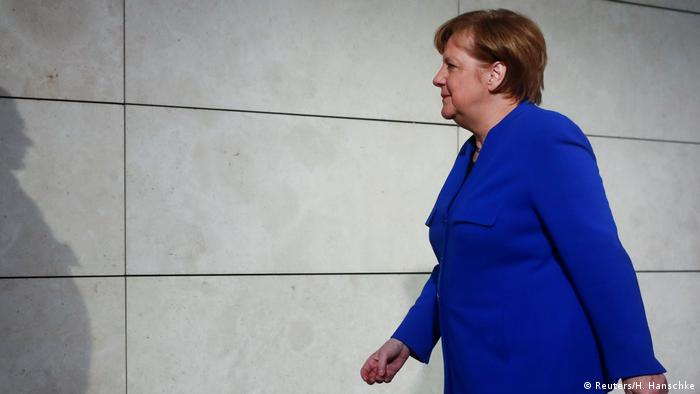 Chanceler interina alemã, Angela Merkel