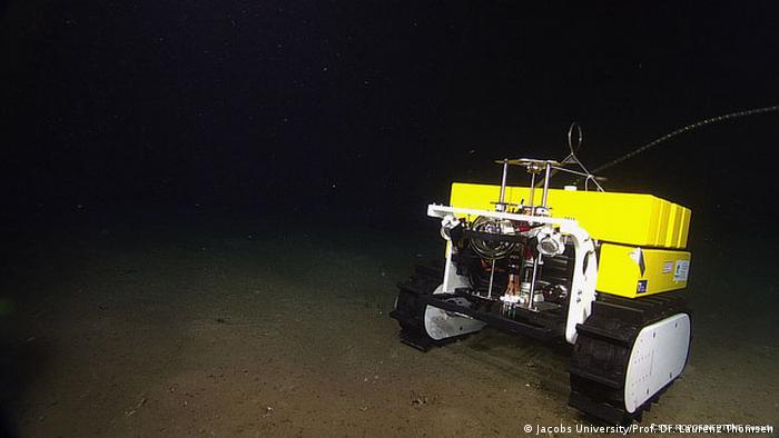Deep sea robot Wally on the seafloor
