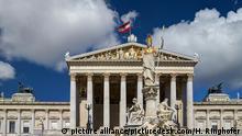 Österreich Parlamentsgebäude in Wien