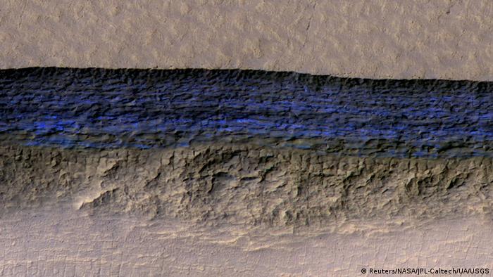 NASA Mars - Ice deposit