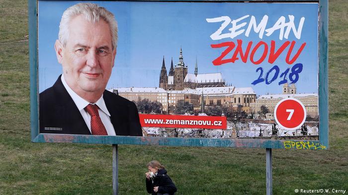 Tschechien Präsidentschaftswahlen Milos Zeman (Reuters/D.W. Cerny)