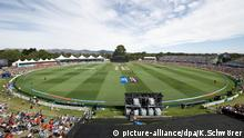 Christchurch, New Zealand - February 21, 2015 - General view of Hagley Oval during the ICC Cricket World Cup Match between Pakistan and West Indies at Hagley Oval on February 21, 2015 in Christchurch, New Zealand. | Verwendung weltweit