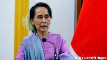 Japan Außenminister Taro Kono in Myanmar mit Aung San Suu Kyi