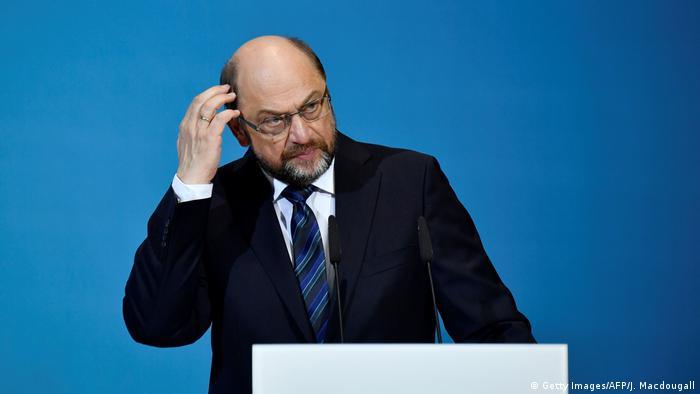Deutschland PK Sondierungsgespräche in Berlin Schulz (Getty Images/AFP/J. Macdougall)