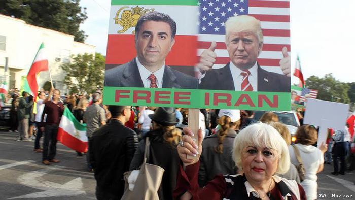 Протесты в Лос-Анджелесе в поддержку иранского правительства