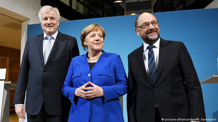 Лидеры ХСС, ХДС и СДПГ после завершения зондирующих переговоров