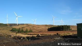 Принадлежащий компании Siemens Gamesa ветропарк в Ирландии