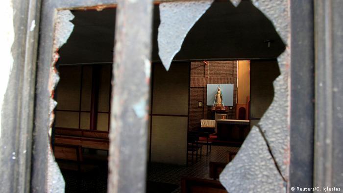Chile Vandalismus in einer Kirche wegen Papst-Besuch (Reuters/C. Iglesias)