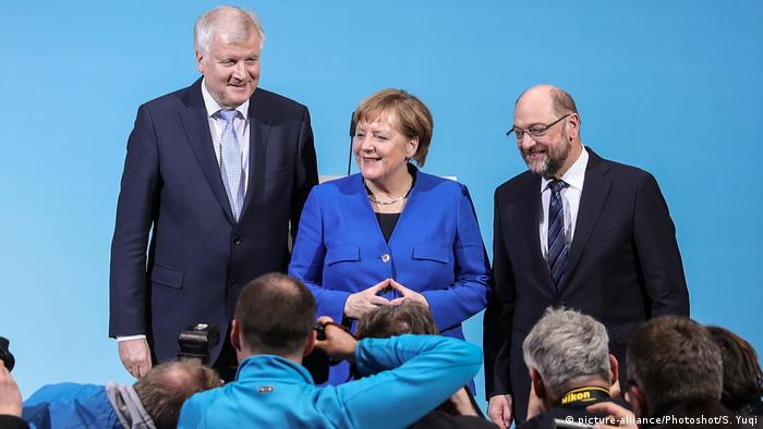 Deutschland Abschluss der Sondierungen von Union und SPD