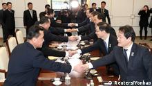 Panmunjom Treffen Nordkorea Südkorea Delegationen