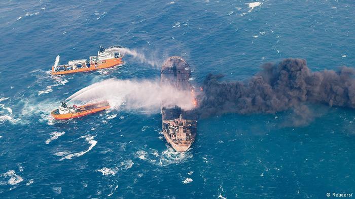 Ostchinesisches Meer Löscharbeiten Öltanker Sanchi (Reuters/)