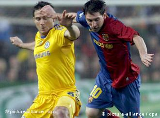 Ndeshja Barcelona - Chelsea. Lionel Messi dhe Frank Lampard