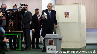 Czech President Zeman, an ally of Prime Minister Babis, will face Jiri Drahos in a run-off presidential election on January 26