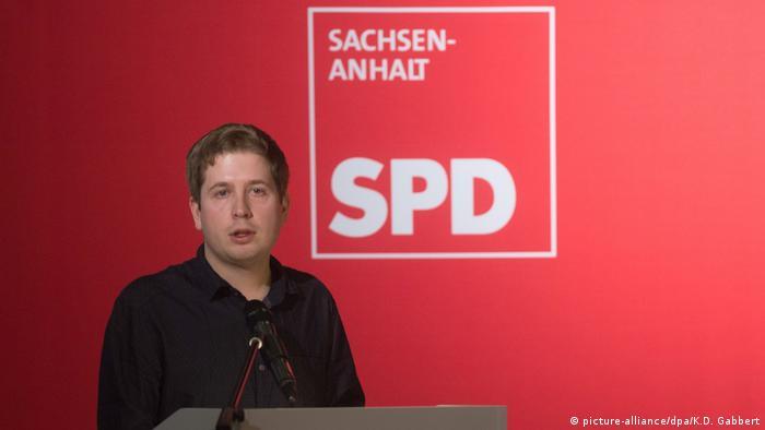Landesparteitag der SPD Sachsen-Anhalt Kevin Kühnert (picture-alliance/dpa/K.D. Gabbert)
