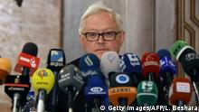 Syrien Sergei Ryabkov stellvertretender russischer Außenminister in Damaskus