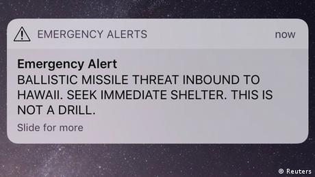 На Гаваях помилково оголосили ракетну тривогу