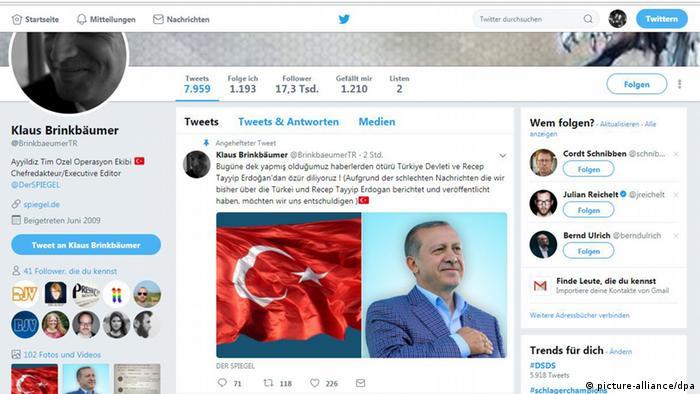 Spiegel editor′s Twitter account hacked to post pro-Turkey