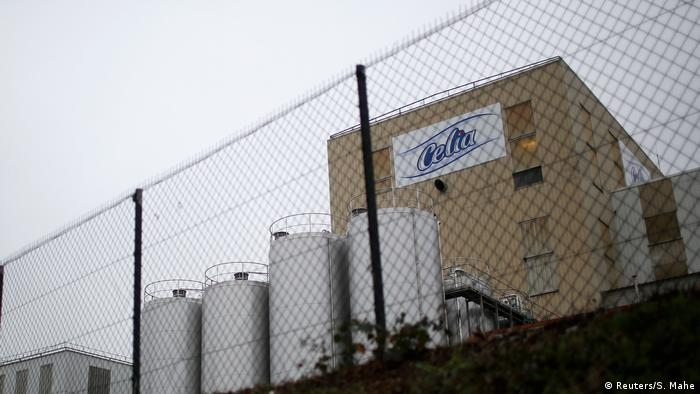 The Celia baby food factory in northern France, part of the Lactalis Group