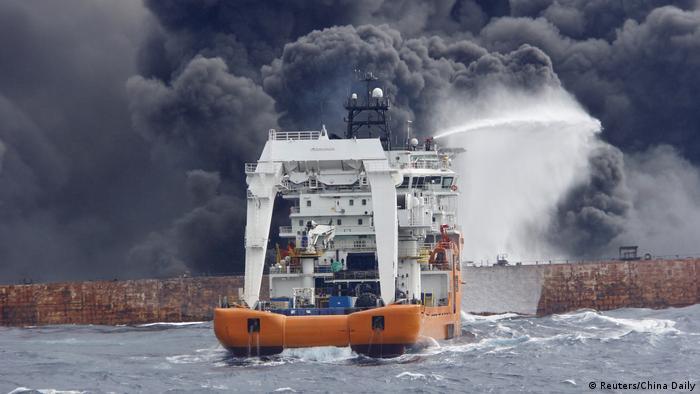 Ostchinesisches Meer Havarie Öltanker Sanchi (Reuters/China Daily)
