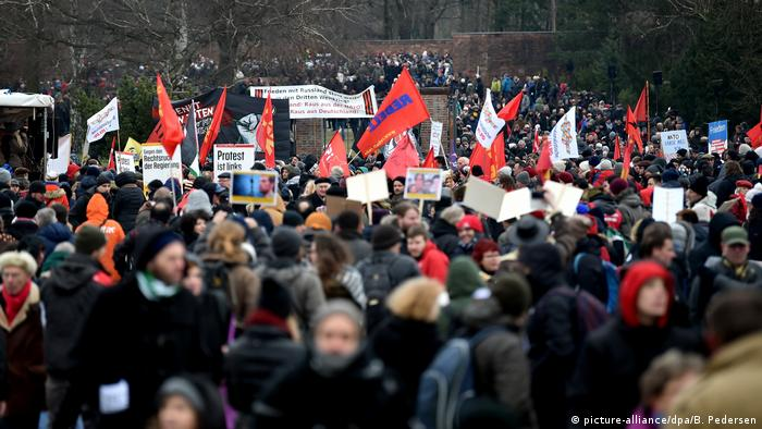 Траурный марш памяти Розы Люксембург и Карла Либкнехта 14 января 2018 года