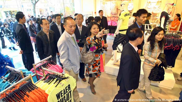China C&A Modekette Eröffnung Filiale in Shanghai (picture-alliance/dpa/Imaginechina Shanghai Daily)
