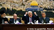 Palästina Israel Konflikt Versammlung PLO in Ramallah Mahmoud Abbas