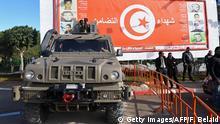 Tunesien Spezialeinheit steht Wache