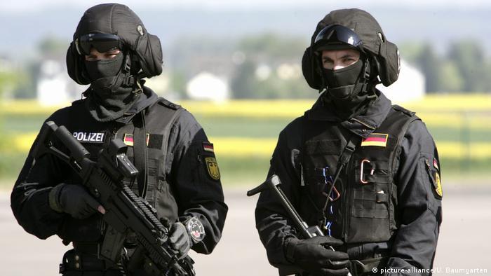 Members of Germany's elite GSG9 police unit