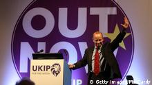 Newly elected UKIP leader Henry Bolton speaks at their autumn conference on September 29, 2017 in Torquay, England (Getty Images/M. Cardy)