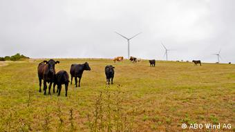 Gibbet Hill wind farm in County Wexford, Ireland