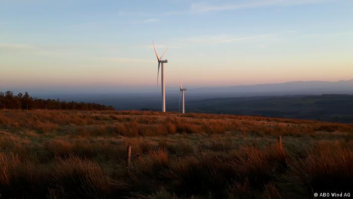 Glenough wind park in County Tipperary, Ireland