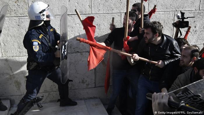 Griechenland Proteste und Streik in Athen