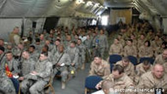 American servicemen at the US air base in Manas, Kyrgyzstan