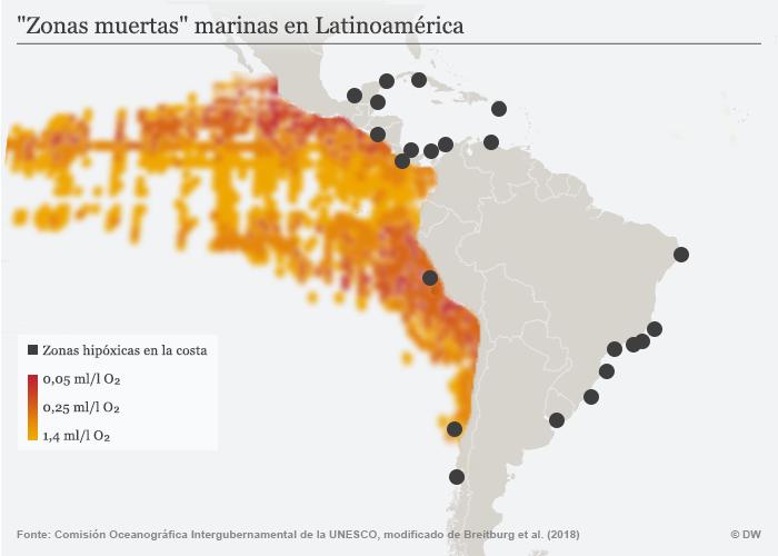 Infografik Todeszonen Zonas Muertas Lateinamerika Meer SPA