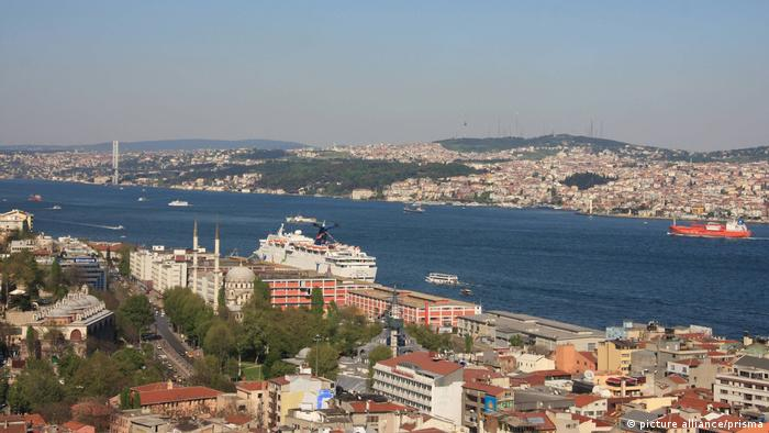 The Bosporus is part of the route linking the Mediterranean with the Black Sea