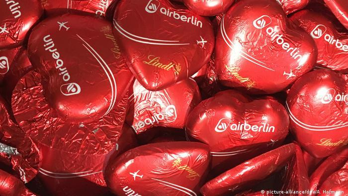 Шоколадные сердца Air Berlin