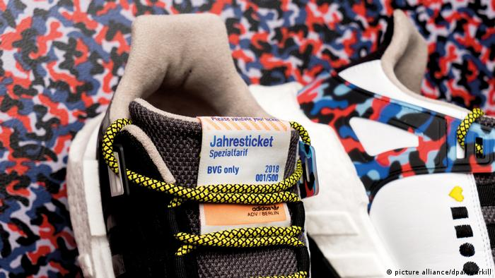 Special-edition Adidas sneakers that double as a Berlin public transportation ticket