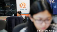 Philippinen Rappler Büro in Pasig, Manila