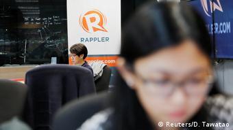 Philippinen Rappler Büro in Pasig, Manila