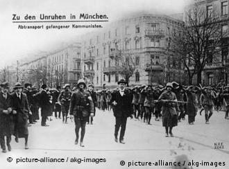Communist prisoners being led away by Weimar Republic soldiers, May 1919, Berlin