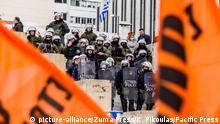 Griechenland Demonstration in Athen