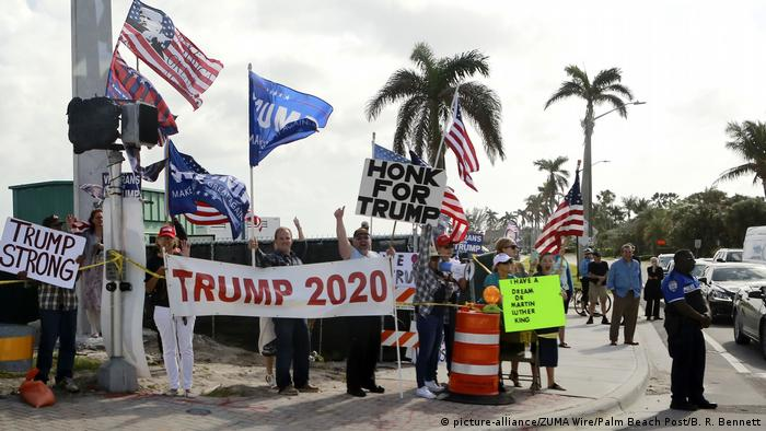 Haitians Protest Trump Over 'S-thole' Comment in Florida