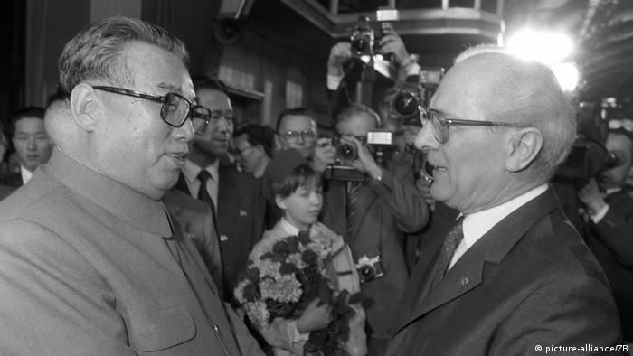 Nordkorea - Erich Honecker und Kim Il Sung (picture-alliance/ZB)