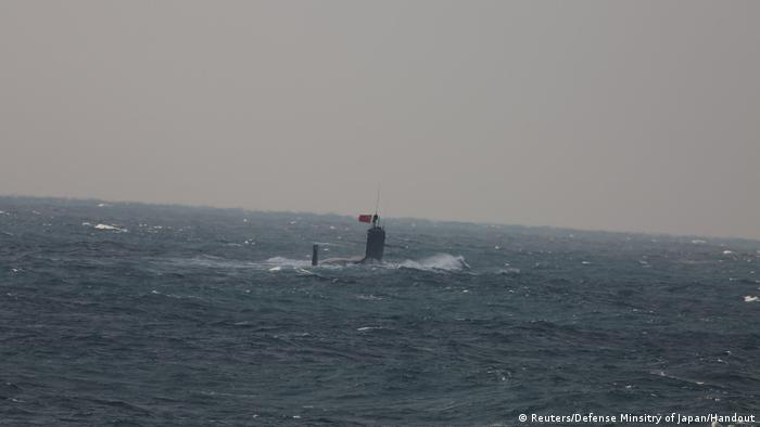 Chinese submarine in the East China Sea
