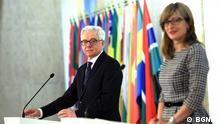 Jacek Czaputowicz mit seiner bulgarischen Kollegin Ekaterina Zaharieva während seines Besuchs in Sofia © BGNES