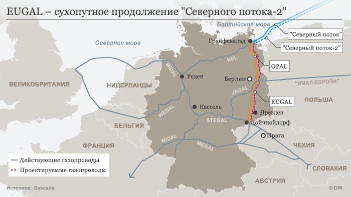 карта газопроводов