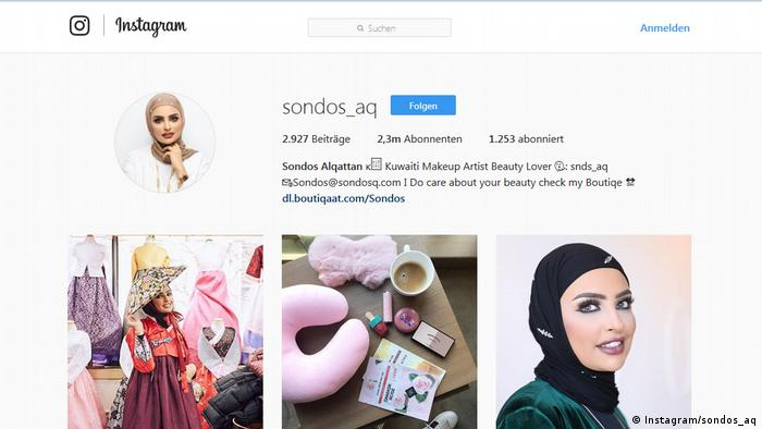 Screenshot Instagram Sondos Alqattan (Instagram/sondos_aq)
